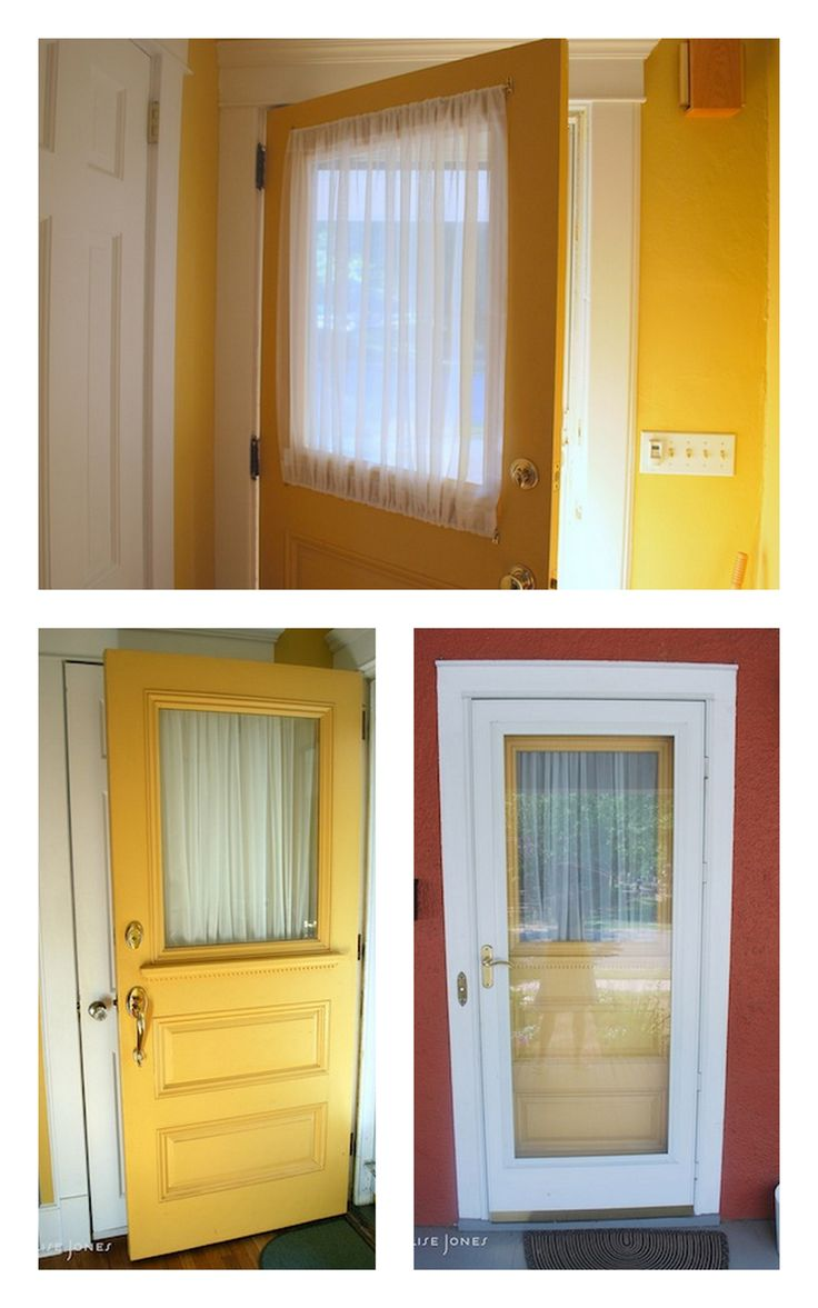 Glass front door window treatments - Entry Door Window Treatments