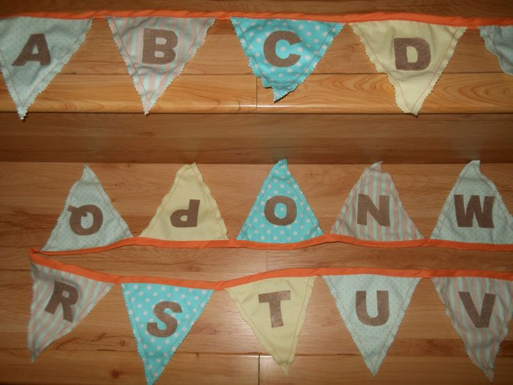 Alphabet bunting for a child's room