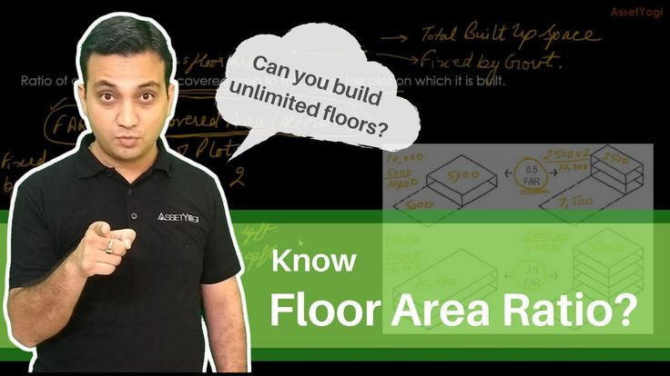 Floor Area Ratio (FAR) Explained - Calculation, Formula, Concept and Exa...       Do you know what is floor area ratio and how to calculate it with an easy formula?  Have you ever thought how many floors can you build on a given plot of land?   We have the answers to the above questions and many other questions related to floor area ratio.   #RealEstate #FloorAreaRatio #FAR #AssetYogi