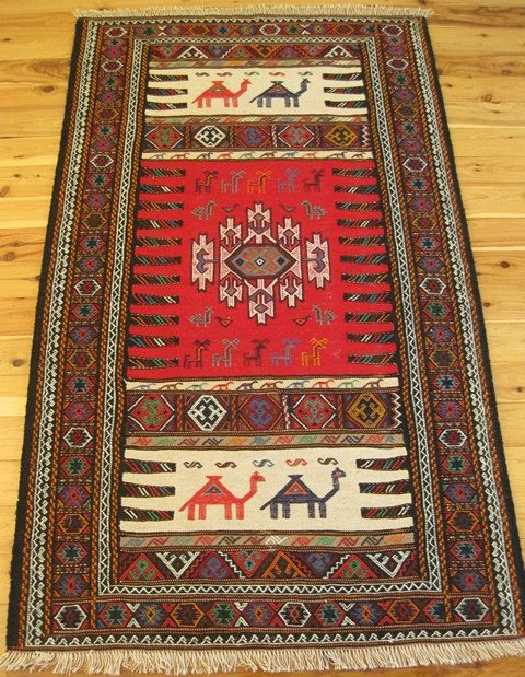 Hand Woven Persian Kilim Rug 100 Wool With By Bazaarhandmade 300 00