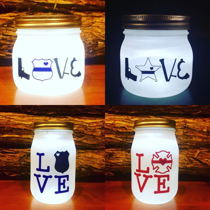 This picture includes the Sheriff lLOVE lighted jar offered in my shop. If you prefer a 6 pointed star or would like some personalization just send me a message!