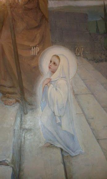 Богородица Дева, радуйся! Благодатная Мария, Господь с Тобою, Благословенна Ты в женах и благословен плод чрева Твоего, яко Спаса родила еси душ наших..