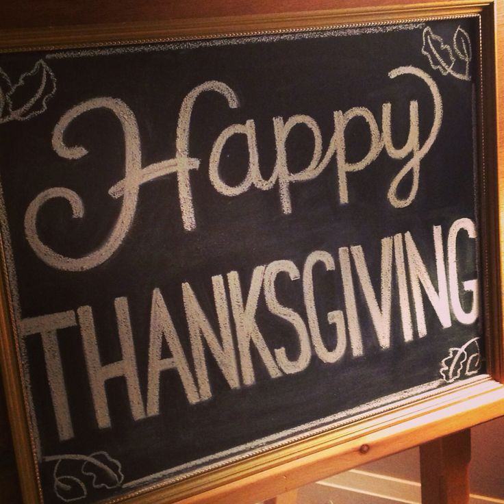 Simple Happy Thanksgiving Chalkboard by Dayna Vago Designs
