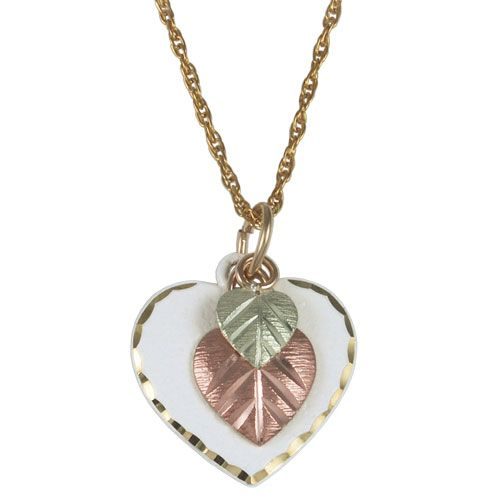 Mejores 146 imgenes de black hills gold en pinterest colinas black hills jewelry 25912 br wht white coated gold heart necklace with chain aloadofball Gallery