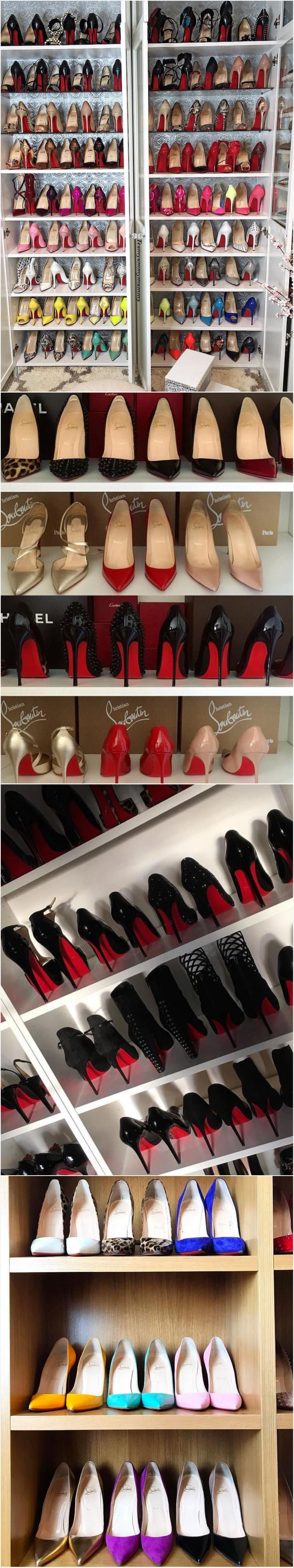 Someone seems to have a real Louboutins addiction. And it's not me.! Christian Louboutin #redsoles