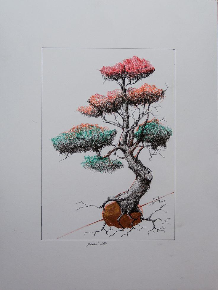 Az élet fája | Copacul vietii | The tree of life | L'albero della vita  | 30x40 | #Kurtha #KurtaArpadCristian #Kurtha2017 #grafica #illustration #tree #TheTreeofLife