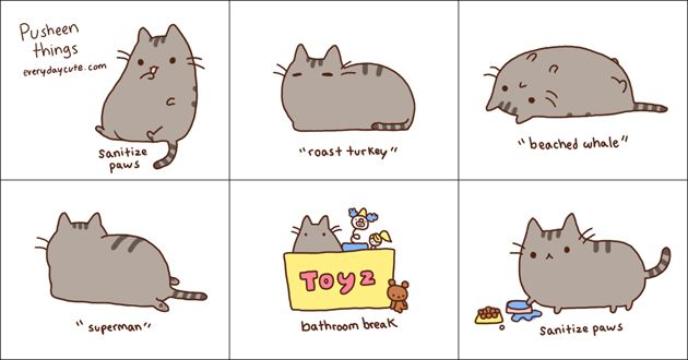 463 best images about illustrations pusheen pusheen for Going to the bathroom alot