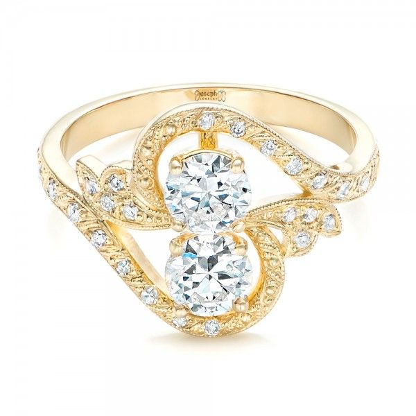 Custom diamond arts and crafts style fashion ring for Art craft engagement rings