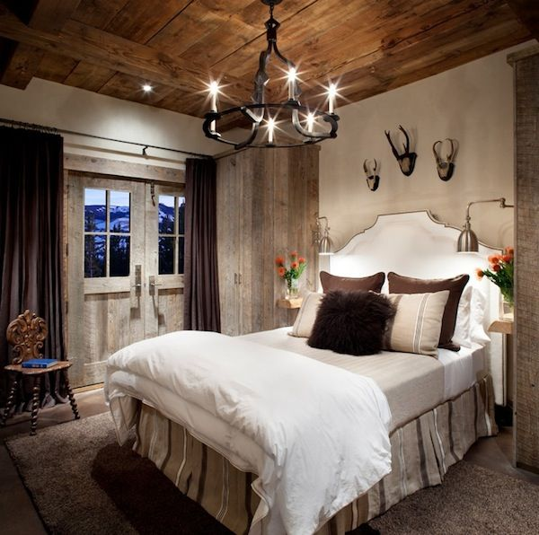 Inspiring Rustic Bedroom Ideas to Decorate with Style ... I guess I need this since we have deer heads on my wall
