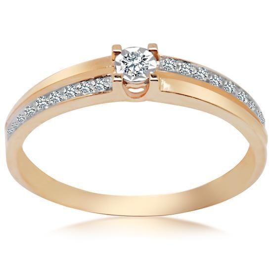 Złote Kolczyki, 1095PLN www.YES.pl/54295-pierscionek-z-diamentami-BB-Z-000-Y01-10214 #jewellery #gold #BizuteriaYES #shoponline #accesories #pretty #style