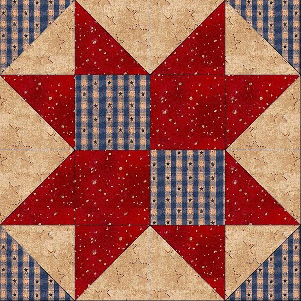 Classic Country 8 Point Free Quilt Block Pattern At Www