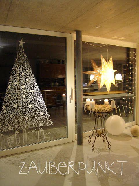 die besten 25 weihnachtsdeko fenster ideen auf pinterest. Black Bedroom Furniture Sets. Home Design Ideas