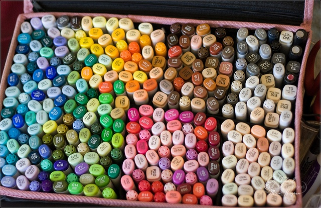 Copic markers - Oh my!! That must be every Copic marker ever made! I wish I had all those!!  *drool*