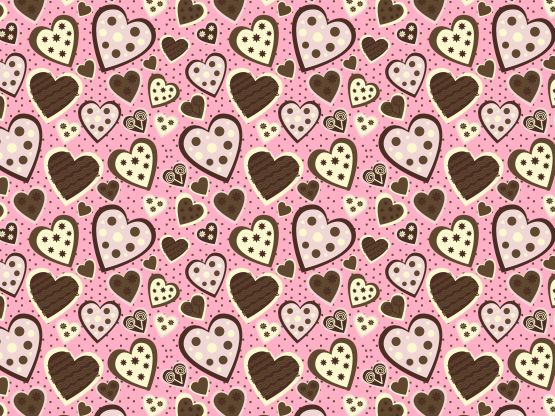 """""""Sweet On You"""" by TeresaD72 Brown, Hearts, Pink, Template, Valentines"""