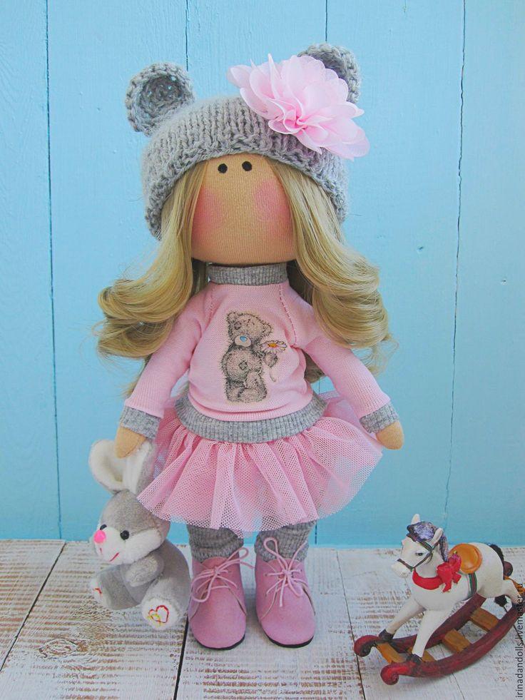 Купить Куколка в свитшоте - розовый, интерьерная кукла, интерьерная игрушка…