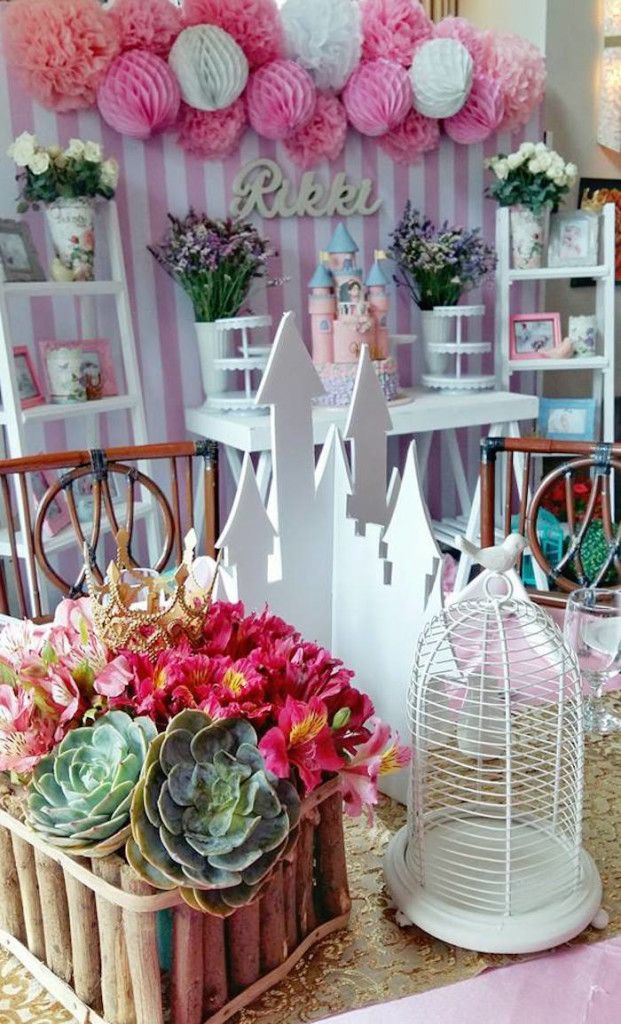 Details + Guest Table Centerpieces from a Pink Princess Baptism Party via Kara's Party Ideas | The Place for All Things Party! KarasPartyIdeas.com (31)
