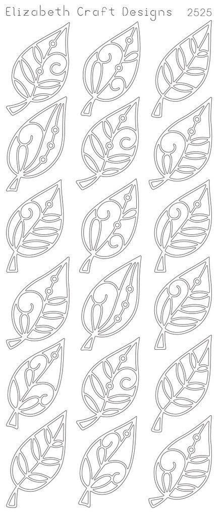 Elegant Leaves (sku 2525) from ElizabethCraftDesigns.com
