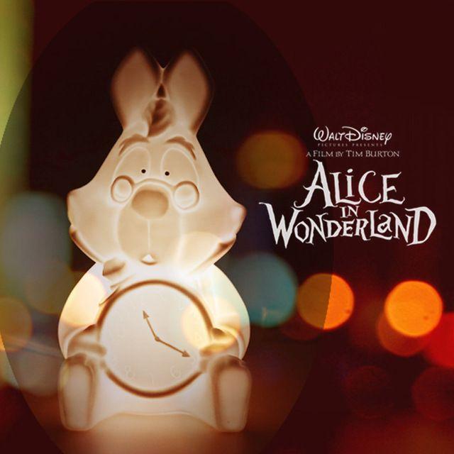 Alice au Pays Des Merveilles Blanc Rabbite Chambre Lampe Enfants Lit Nuit Lampe Céramique Décoration Collection Idéal Cadeaux Boun L'UE/NOUS Plug