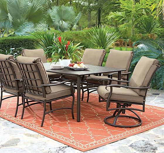 Home decorators collection gabriel espresso bronze patio dining set with beige cushions 7630110280 at the home depot mobile
