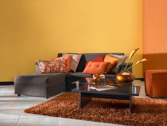 794 Best Wohnzimmer Ideen Images On Pinterest Wohnzimmer Orange Schwarz