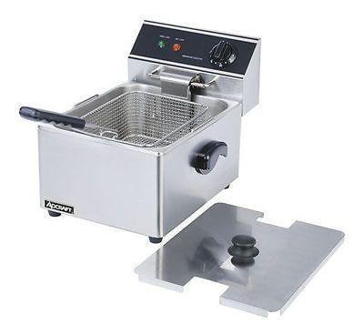Commercial DEEP FRYER w/ Cover Adcraft DF-6L  15 LBS/HR http://kitchenammo.com/store/kitchen/commercial-deep-fryer-w-cover-adcraft-df-6l-15-lbshr/