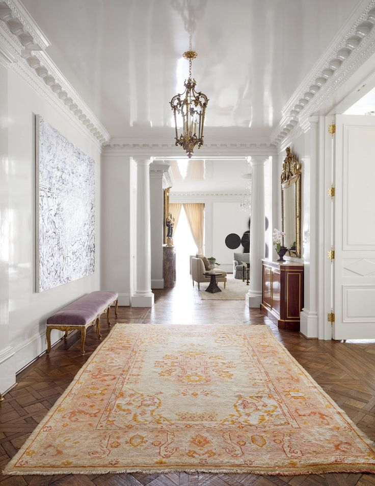 HIGH GLOSS PAINT ON CEILING OF ENTRY entry, stairs & galleries - Collins Interiors