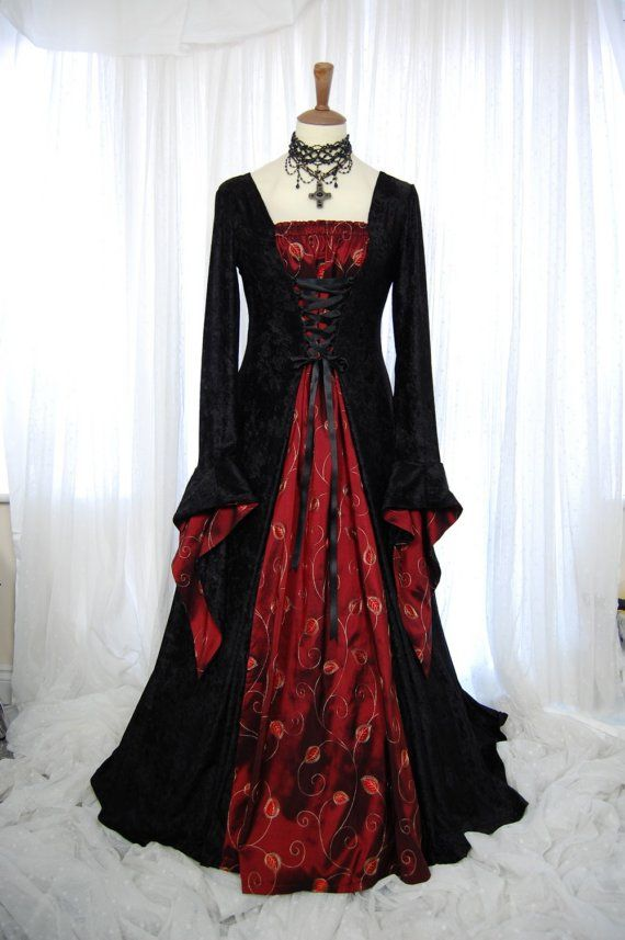 Meval Pagan Wedding Prom Dress Gown Lotr Hand By Roonline 191 00