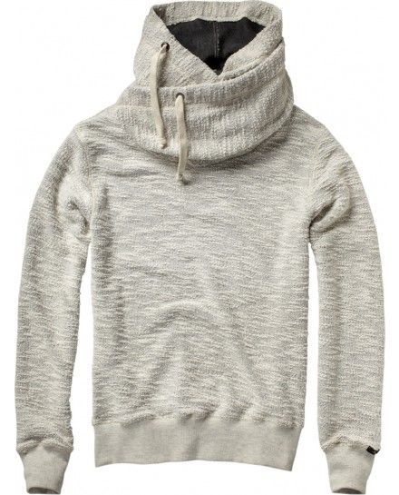 Home Alone hooded sweater with double collar - Sweats - Scotch & Soda