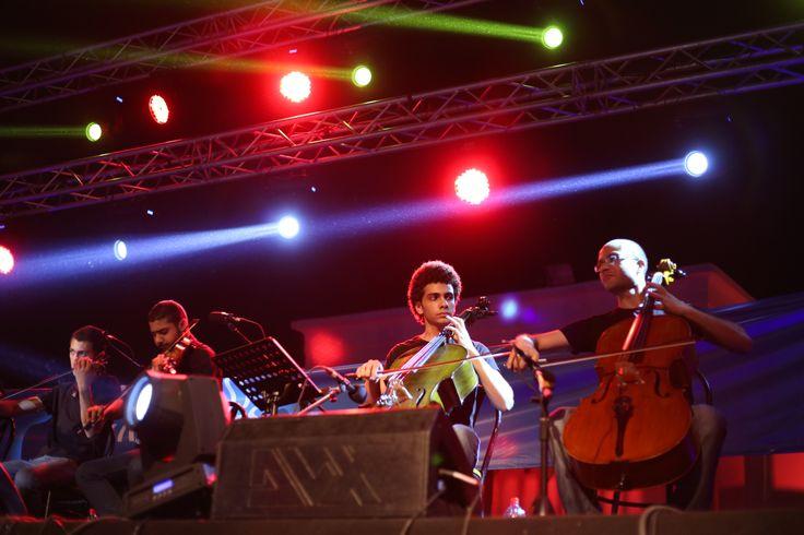 Sur scène avec les musiciens du Conservatoire National du Caire © Benjamin Favier