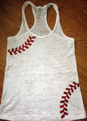 Baseball tank. Would be pretty easy to paint this design on a tank top.
