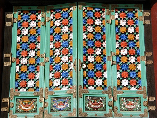 Korean Temple Doors
