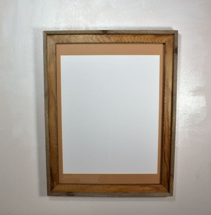 Beautiful light brown reclaimed wood poster frame!