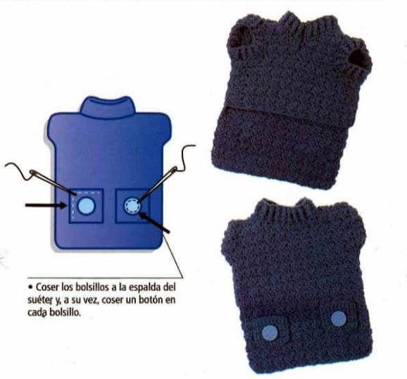 Suéter a crochet con bolsillos y botones para mascotas Precioso Suéter en crochet con bolsillos y botones, especial para mascotas. Si te gusta y quieres saber como hacer este abrigo sigue las instrucciones con el paso a paso. ANTES DE EMPEZAR Para hacer este suéter, se tejen la espalda y el pecho por …