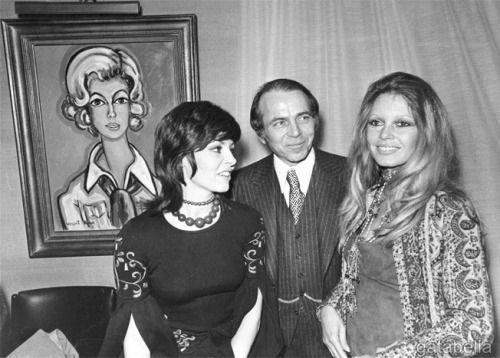 Michele Mercier and Brigitte Bardot