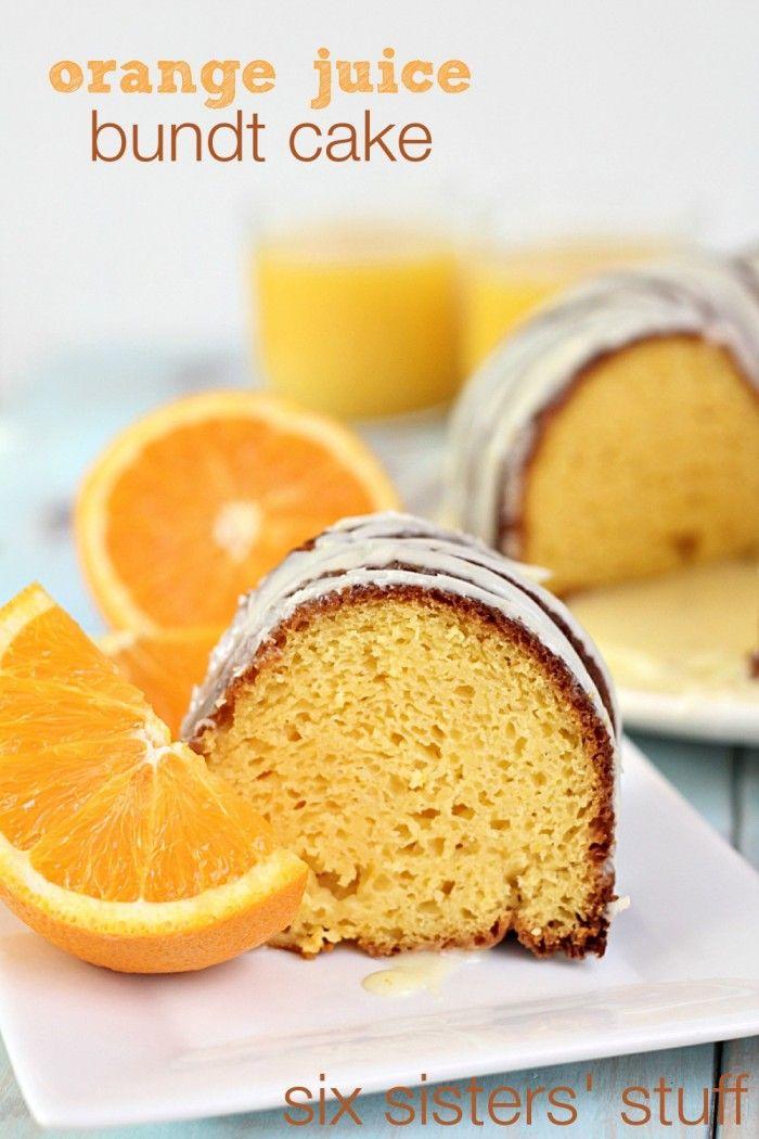 Orange Juice Bundt Cake Recipe from SixSistersStuff.com