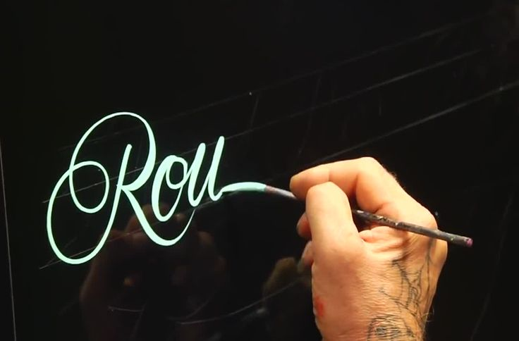 Round Hand Lettering Tutorial Video