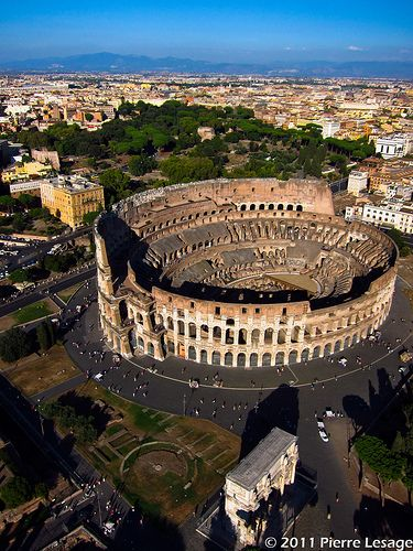 KAP over the Coliseum in Rome with a Canon S95 by Pierre Lesage, via Flickr