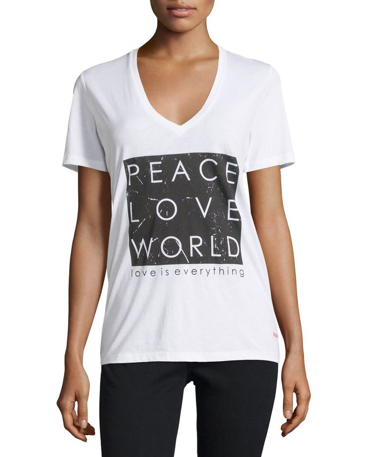 Shop Kim Short Sleeve Graphic Tee White From Peace Love World At Neiman Marcus Last Where Youll Save As Much As On Designer Fashions