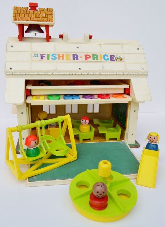 Fisher Price Little People School House by RelicsAndRhinestones, $65.00