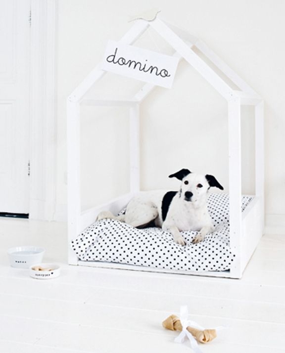 Wood Frame Dog Cottage.   I need to make this for my Yorkie. :)