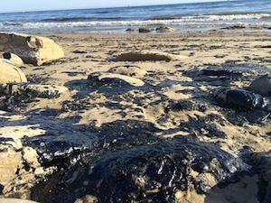 Oil Spill North of Refugio State Beach