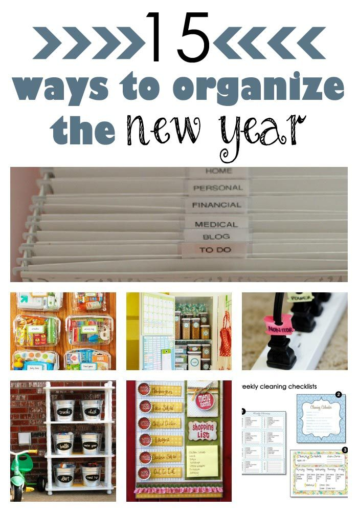 15 ideas for organizing the New Year!