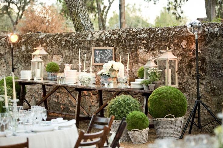 """Matrimonio Rustico Como : Una """"boda rosa clará con vestido corto boda"""