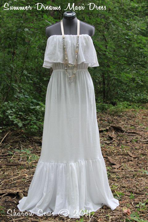 Sharon Sews: Sew a romantic strapless ruffled maxi dress: a tutorial