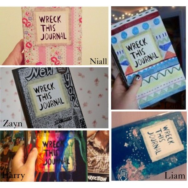how to make your own wreck this journal