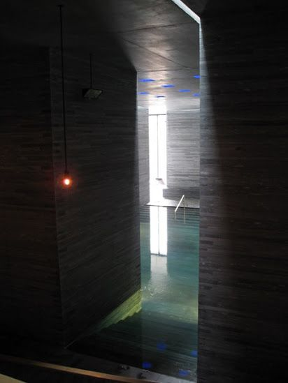 Zumthor, Termal bath- Switzerland. https://plus.google.com/photos/108137471107645581013/albums/5186949360858742145?banner=pwa