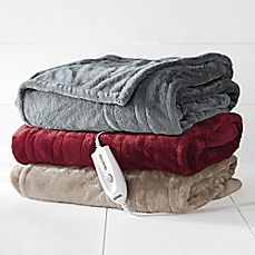image of Therapedic® Electric Heated Silky Plush Throw Blanket