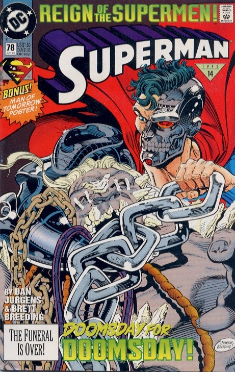Superman Comic Book #78 - The events after the Death of Superman at the hands of DOOMSDAY!