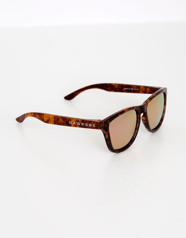 :Rogowe okulary przeciwsłoneczne hawkers rose gold one