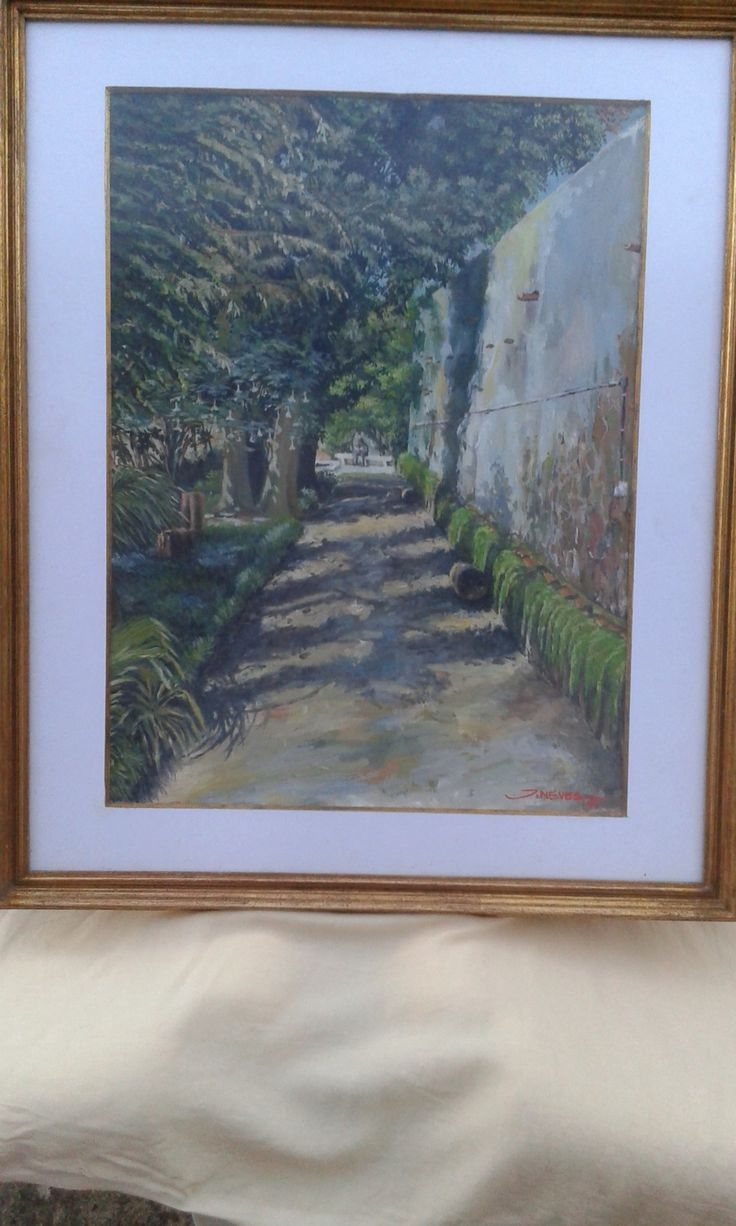 Quadro, pintura óleo sob papel. Assinado João Neves.